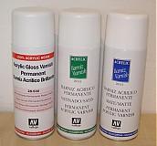 Farby-laky - Akrylový lak na vodnom základe - spray - 1276206