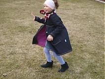 Detské oblečenie - indigo-modrý + malinova bodka = ..... - 1280840