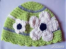 Detské čiapky - Kvetinka - 1292964