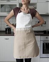- Kuchynská zástera bielo-hnedá (005) - 1310231