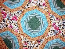 Úžitkový textil - retro tyrkys - 1315239