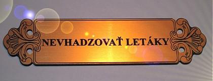 Tabuľky - menovka na schránku s ornamentami - 1327462