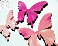 Magnetky - motýle cez ružové okuliare... - 1329013