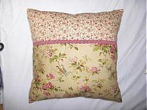 Úžitkový textil - Vankúš s vtákmi zelený - 133027
