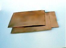Suroviny - plech medený 1mm, 20 x 10 cm - 1331442