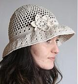 Čiapky - dámsky letný klobúk - 1341323