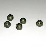 Korálky - 0007 Voskované perly - khaki 8 mm, 10 ks - 135146