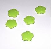 Korálky - 0008 Plastové kvietky - svetlozelené 15 mm, 1 ks - 135160