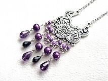 Náhrdelníky - Purple Cleopatra - 1358523