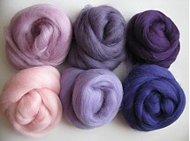 - Merino vlna na plstenie - fialová 60 g - 1360083