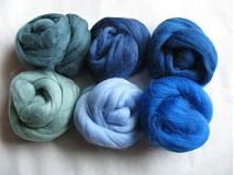 Textil - Merino vlna na plstenie - modrozelienkavá 60 g - 1366407