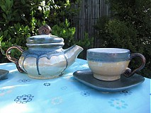Nádoby - Modrá ,,čajovka ,, - 1380156