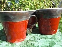 Nádoby - Šálka červeno- šedá - 1385171