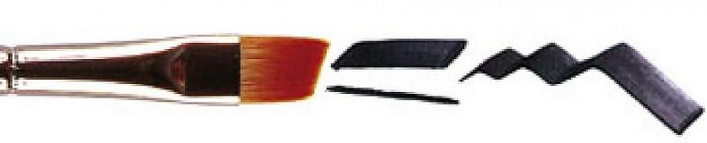 Pomôcky/Nástroje - Štetec skosený, tieňovací (PM05 - Angled Shader brush) - No 4 - 1391702
