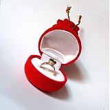 Obalový materiál - Krabička na prstienok / červené vrecúško - 1397303