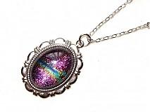 Náhrdelníky - galaxy lila - 1407029