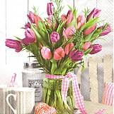 Papier - Tulipánová kytica - 1427480