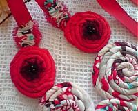Náhrdelníky - kombinovaný červený... - 1435035