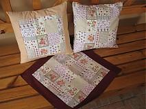 Úžitkový textil - Vankúšiky a obrúsok - 1436300