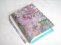 Ledové maliny s mentolem - batika -obal na knihu