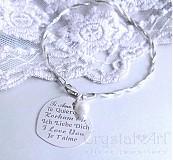 Náramky - Strieborný so srdiečkom a perlou - 1445213