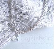 Náramky - Strieborný náramok so slzičkou - 1445282