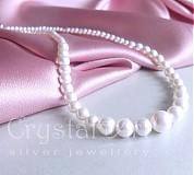 Náhrdelníky - Biele perly - 1446998