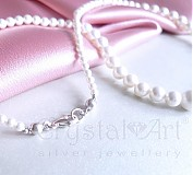 Náhrdelníky - Biele perly - 1447044