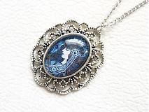 Náhrdelníky - dievča v modrom - 1460459