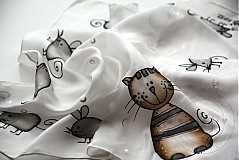 Šatky - detská šatka MAčKA A MYšI - 1463069