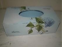 Krabičky - Krabica na servítky hortenzie - 1464482