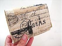 Peňaženky - Paříž - elegantní peněženka  - 1480631