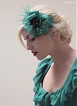 Ozdoby do vlasov - Zelená kvetina by Hogo Fogo - 1481319