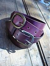Opasky - handmade-KERTAG® kožený opasek COLOR - 1483052