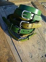 Opasky - handmade-KERTAG® kožený opasek COLOR - 1483067