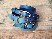 Opasky - handmade-KERTAG® kožený opasek COLOR - 1483087