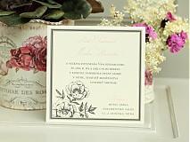 Papiernictvo - Svadobné oznámenie Roses - 1485753