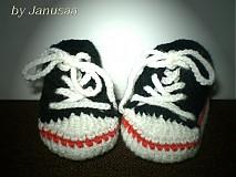 Topánočky - Háčkované tenisky - 1493349