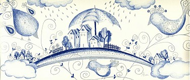 Obrazy - Dúhové mestečko - 1502508
