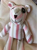 Hračky - Macko ružový, jedným očkom žmurkajúci, s krídlami od anjela - 1513314