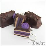 Náušnice - Čokoladové tortičky - 1514482
