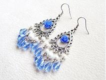 Náušnice - modrý sen - 1518475