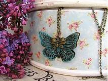 Náhrdelníky - Náhrdelník s motýlky - 1518512