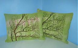 Úžitkový textil - vankúšiky stromové - zelené - 1519808