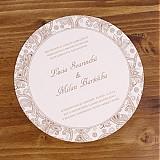 Papiernictvo - Svadobné oznámenie Circle - 1520057
