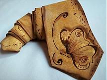 Doplnky - Hodvábna kravata-Motýľ v starozlatej - 1522698