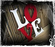 Tabuľky - LOVE 20*17cm - 1523741