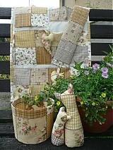 Úžitkový textil - Sada úžitkových a dekoračných predmetov - béžová - 1525387