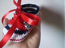 Topánočky - Háčkované tenisky ... malá námorníčka ... - 1530316