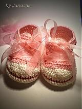 Topánočky - Háčkované tenisky ... sladké srdiečkové ... - 1531288